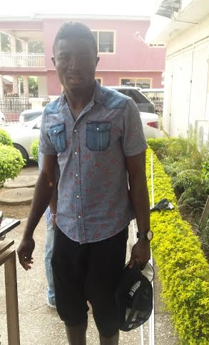 Kwabena Edusei emerged after taking medical exam