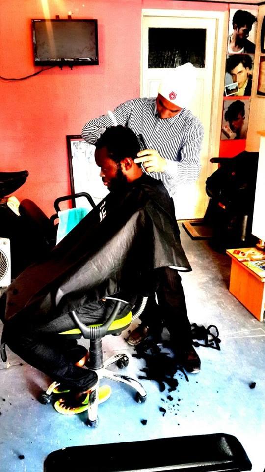 Yahaya Mohammed losing his dreadlocks