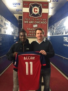 Ghana striker David Accam has expressed gratitude all all his former clubs and vowed to make a huge impact at his new MLS side Chicago Fire.