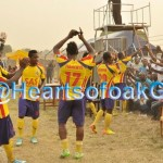 PICTURES: Ghanaian giants Hearts of Oak players and fans enjoy atmosphere and victory in Kpando