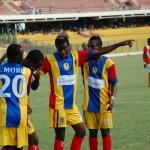 Ghana Premier League FT:  Berekum Chelsea 4-2 Hearts; Kotoko 2-2 Hasaacas; WAFA 0-1 AshGold