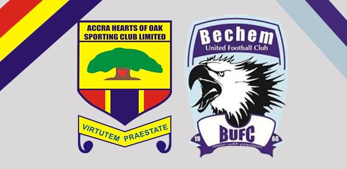Ghana Premier League Preview: Bechem United Vs Hearts of Oak