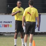 Black Stars physical trainer Jamie Lawrence rubbishes no visa report, with Black Stars team in Mongomo