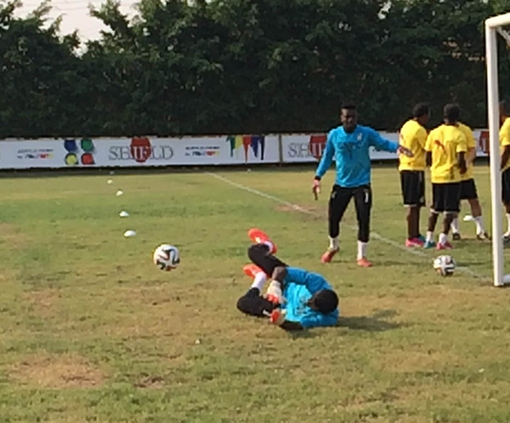 Black Stars training at the Lizzy Sports Complex.