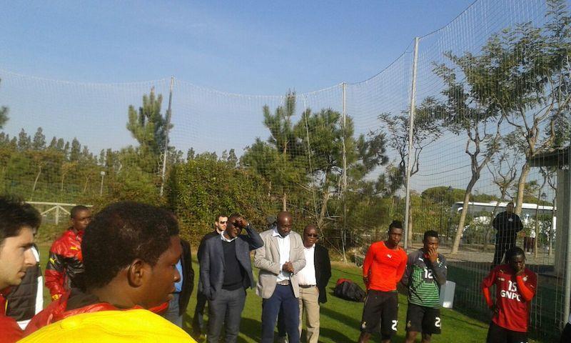 Deputy Sports Minister Vincent Asamoah visits Black Stars.