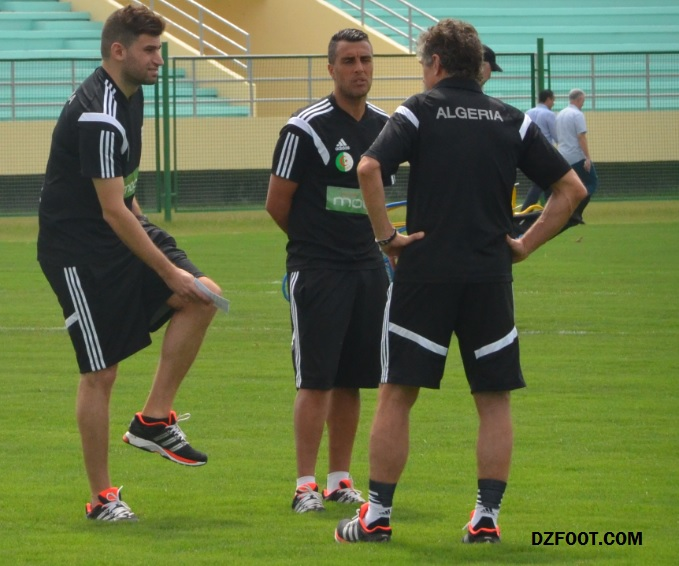 PICTURES: Algeria return to training ahead of Ghana's showdown