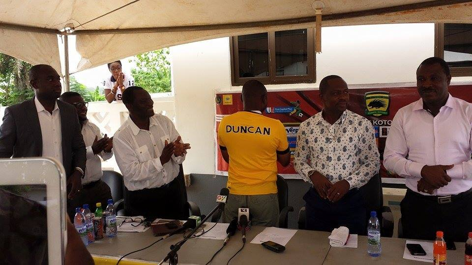 David Duncan being unveiled as new Kotoko coach