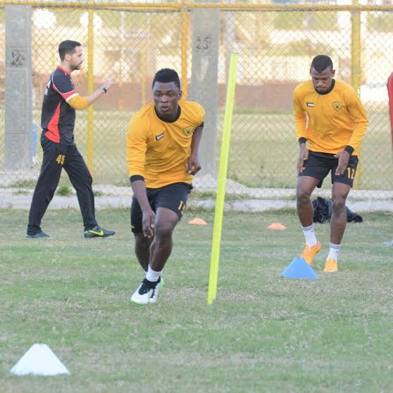 Rashid Sumaila returns to Al Qadsia training after injury scare