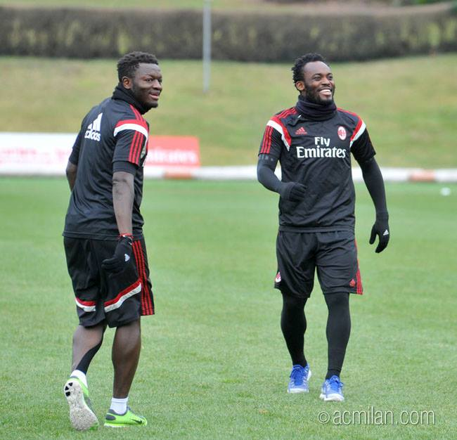 AC Milan send Independence Day wishes to Ghana duo Muntari and Essien
