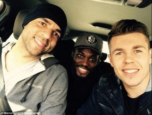 Chelsea past and present stick together at AC Milan as Marco van Ginkel gives Alex and Michael Essien a lift to training