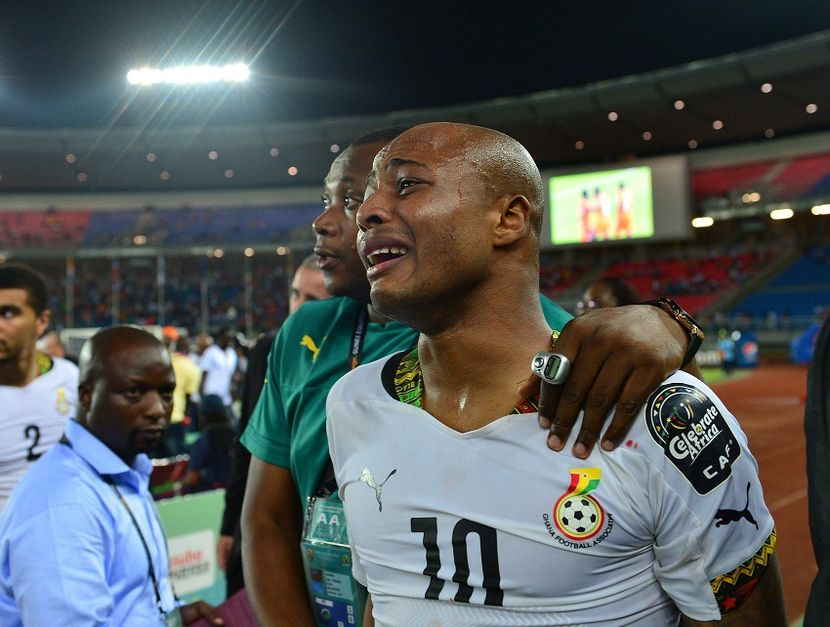 Image result for andre ayew crying