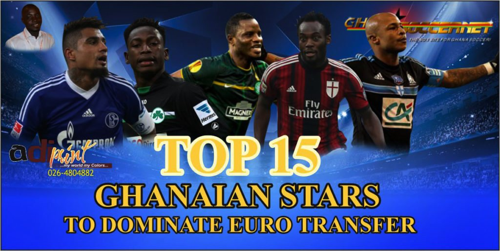 Andre Ayew, Baba Rahman, Godfred Donsah and Wakaso Mubarak... big names likely to move this summer