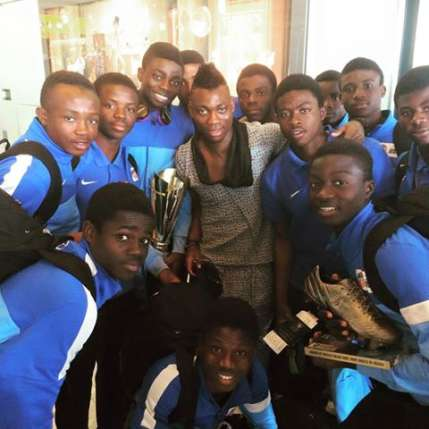 Ghana winger Christian Atsu in personal praise of victorious Right to Dream U15 team