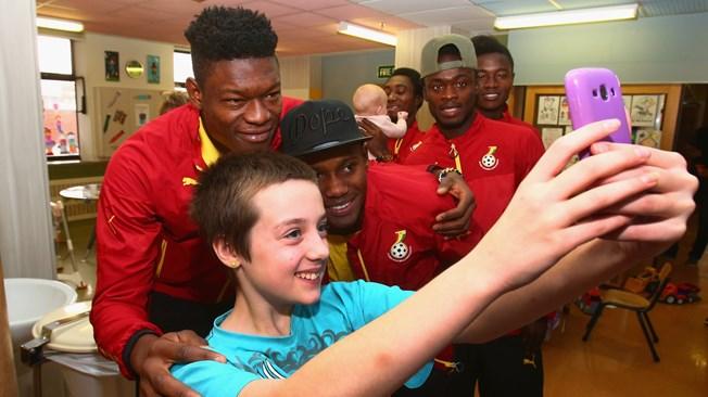 Ghana U20 raise smiles on children's hospital visit in New Zealand