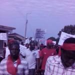 Wa demonstrate in support of Kwesi Nyantakyi