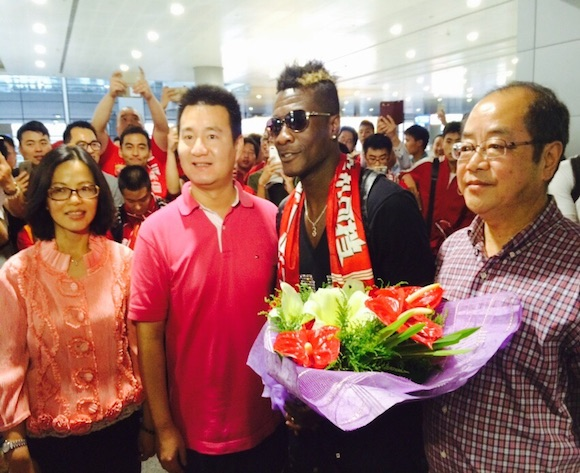 Asamoah Gyan becomes FIFTH Ghanaian player to play in Chinese top-flight