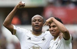 Ghana and Swansea winger Andre Ayew among top scorers in English