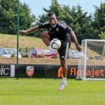 Majeed Waris trains with Lorient