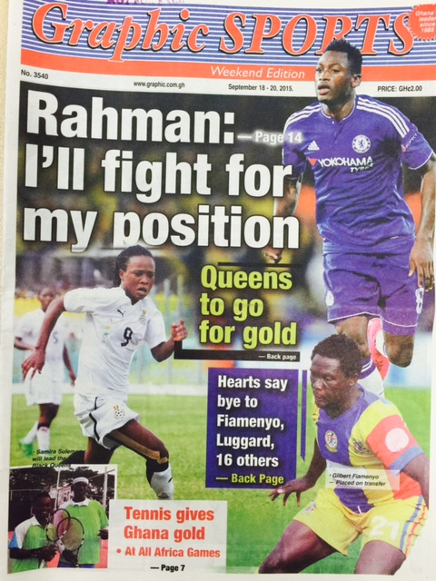 Get the latest from Ghanaian Newspapers- Baba Rahman, Hearts to sack 18 players and Kotoko-AshGold clash for Otumfuo Cup