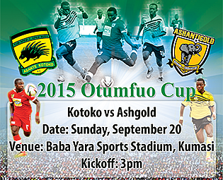Otumfuo Challenge Cup: Anniversary game between Kotoko and Ashantigold to go on as planned after earlier threat of boycott