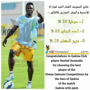 Ghana defender Rashid Sumaila wins player of the month award in Kuwait