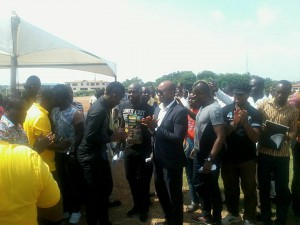 PICTURES: Asamoah Gyan breaks ground for the construction of $180,000 artificial pitch at former school Accra Academy