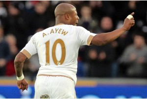 Ghana star Andre Ayew has kept Swans propped up