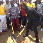 Asamoah Gyan break ground for the construction of $180,000 artificial pitch at former school Accra Academy