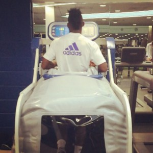 Injured Ghana winger Christian Atsu returns to gym to intensify recovery