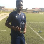 Baba Mensah presents league Best Defender award to Inter Allies teammates