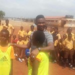 VIDEO: Samuel Eto'o takes grand selfie with pupils after FIFA Health Programme