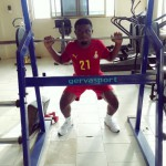 PICTURE: Free-agent Fatau Dauda keeps fit with intense gym sessions