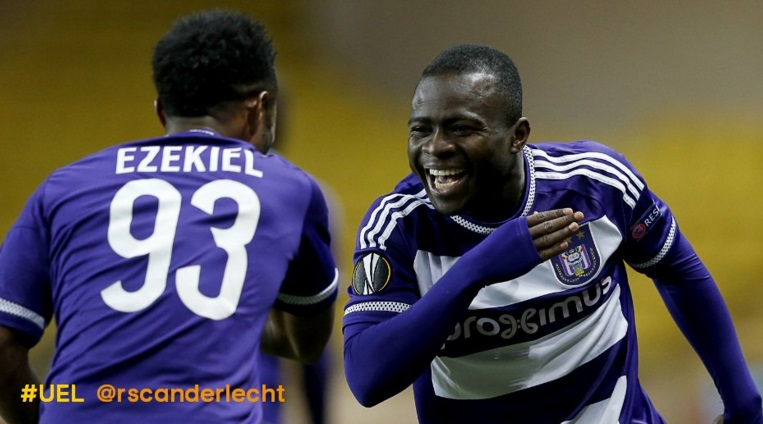 Europa League: Ghana's Frank Acheampong on target against Monaco as Anderlecht brush past French giants