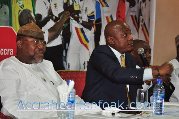 Dr. Nyaho Tamakloe urges Hearts fans to fill stadium in match days