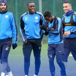 No injury concerns for Jeffrey Schlupp as he is all-smiles in Leicester training ahead of Newcastle clash
