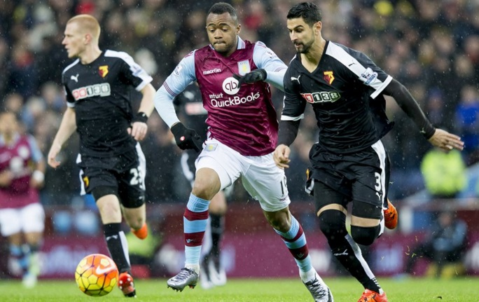 Ghana forward Jordan Ayew hits target but Aston Villa succumb to home loss against Watford