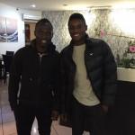 Ghana youth defender Kingsley Fobi meets Udinese star Agyemang-Badu