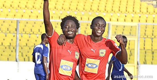 Larbi Koomson makes return to Kotoko training a year on after suffering serious knee injury