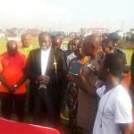 Kotoko owner Otumfuo Osei Tutu II visits team at training ground ahead SWAG Cup clash