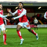 VIDEO: Watch Ghanaian youth star Tariqe Fosu score his debut goal for Fleetwood in England