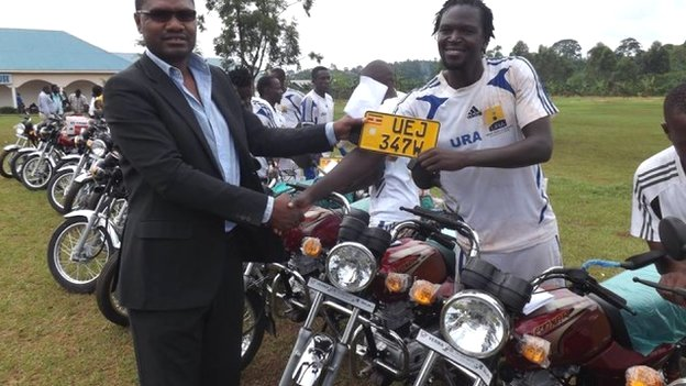 Top Ugandan club URA buy motorbike taxis for players to earn extra income