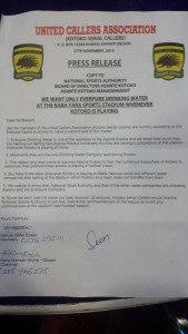 Agitated Asante Kotoko fans want Sports Authority to ban the sales of water at Baba Yara Stadium but for Everpure