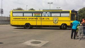 PHOTOS: Asante Kotoko and AshantiGold arrive at Baba Yara ahead of SWAG Cup
