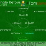 Ghanaian trio named in Mazembe starting line-up to face USM Alger in CAF Champs Lge final