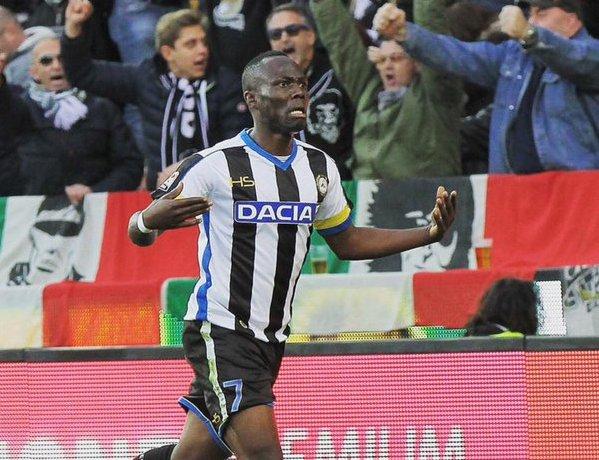 Udinese send birthday shout out to midfielder Emmanuel Agyemang-Badu