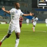 Striker Patrick Twumasi scores in Astana's 3-0 win over FC Okzhetpes