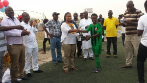 Best Player of the tournament Janet Agyiri of Hasaacas Ladies