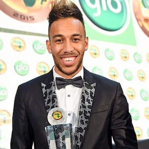 Aubameyang excited with Caf award after edging past Ayew, Toure