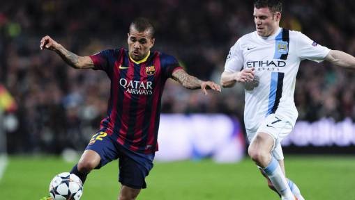 Dani Alves Names Liverpool's James Milner as His Toughest Opponent
