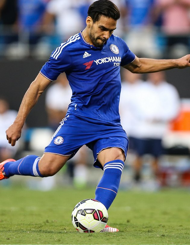 China target Falcao to stay put with Chelsea says father